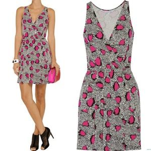DVF Oblixe Black & Pink Print Dress